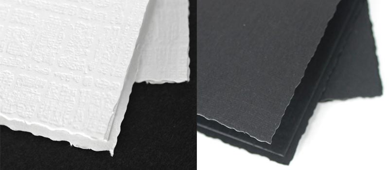 Deckle Edge Paper Detail
