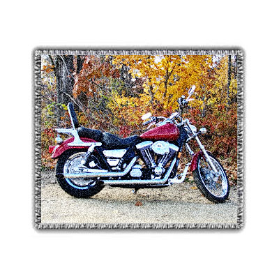 Harley Davidson Photo Blanket