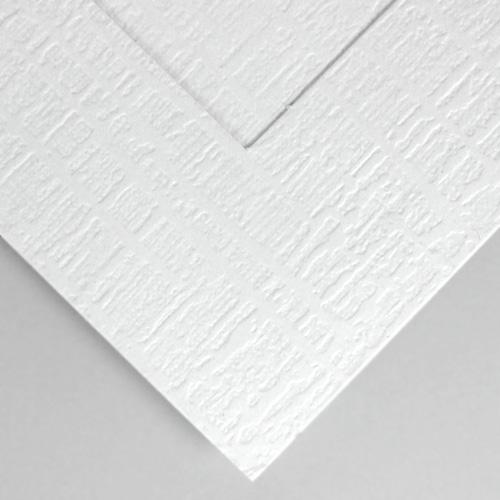 linen weave paper white
