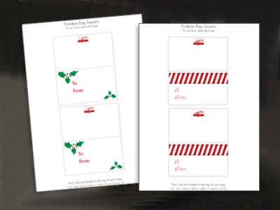 picture about Christmas Bag Toppers Free Printable named Printable Xmas Deal with Bag Toppers - The Party Occasion