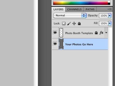 Photoshop Photo Booth Template Layers