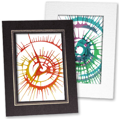 Spin Art Card Frames