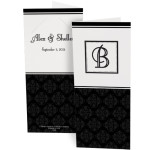 Monogram photo booth folder wedding