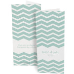 teal chevron stripe photo booth folder