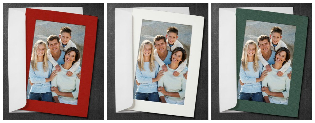 blank holiday cards with photo insert