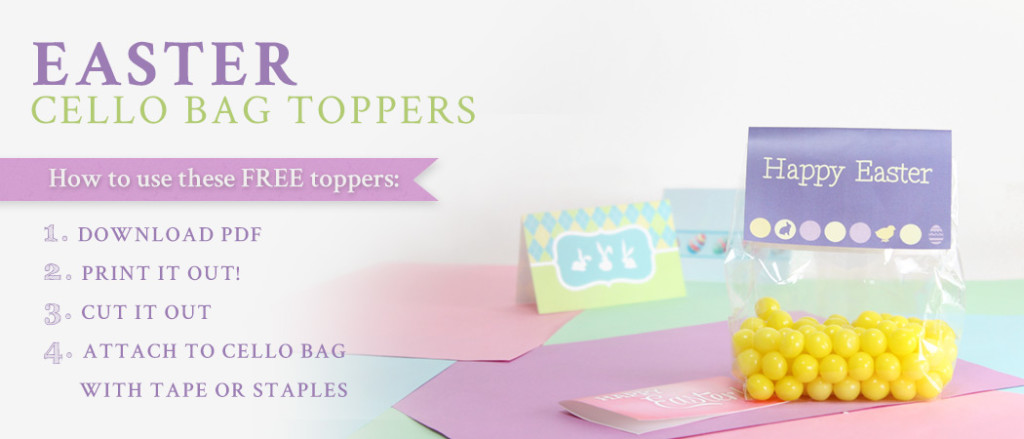 free easter treat bag toppers