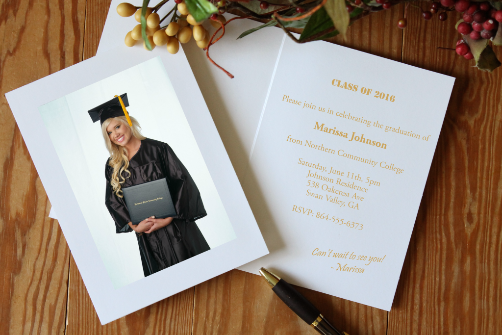 graduation announcements card
