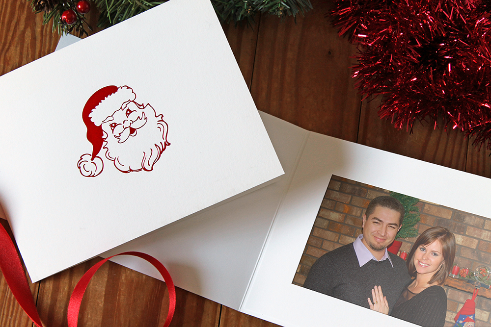 Santa Christmas Photo Card