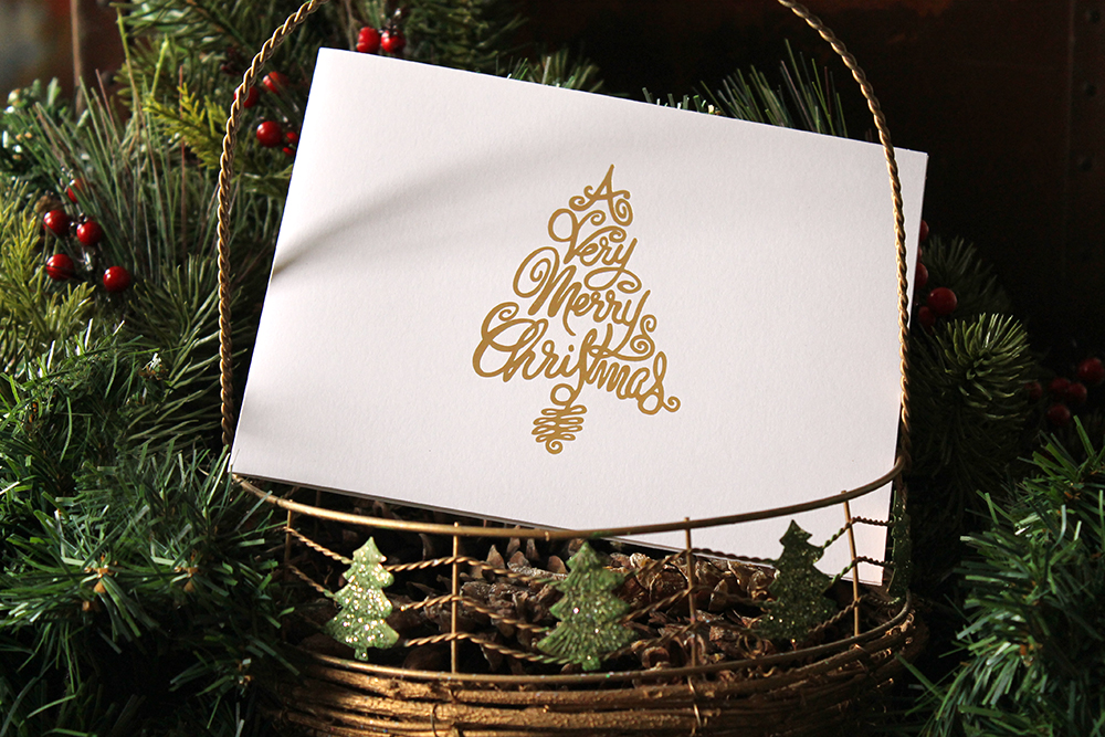 Christmas Tree Foil Card